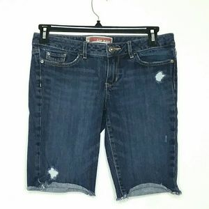 GAP Jeans Size 4 Distressed Bermuda Shorts